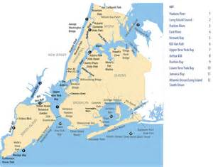 East River New York Map by New York City Region Fish Advisories