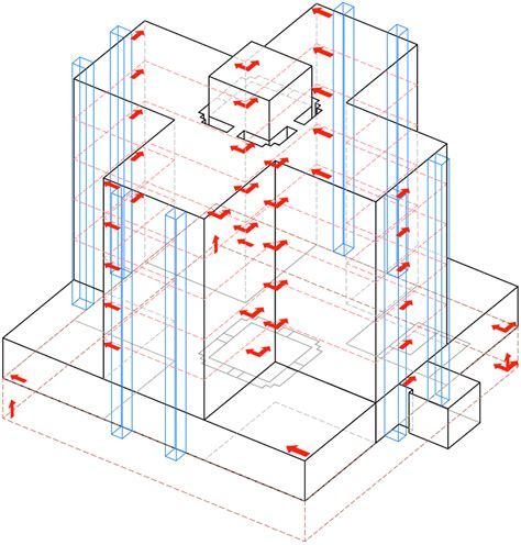 structural layout of a building earthquake monitoring of structures