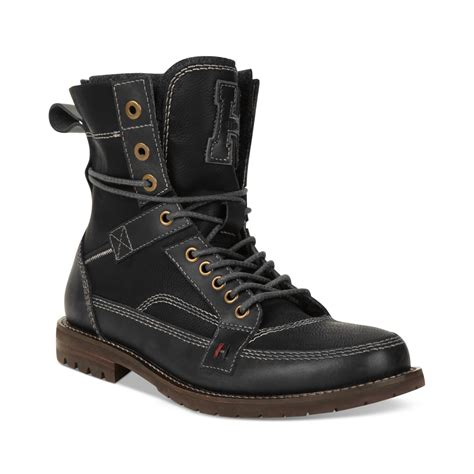 hilfiger s boots lyst hilfiger brutus boots in black for