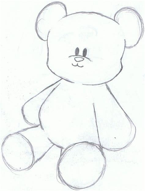 teddy bear sketch by happles xd on deviantart