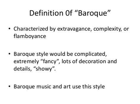 baroque style definition of baroque style in the free baroque 1600 1750 revised