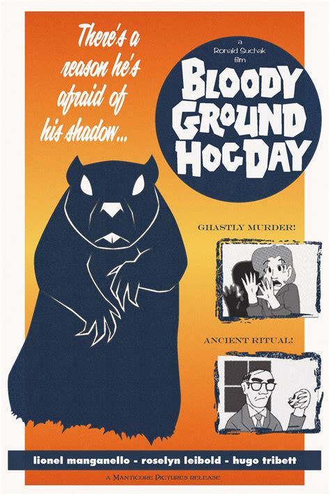 groundhog day poster bloody groundhog day poster by tymime on deviantart