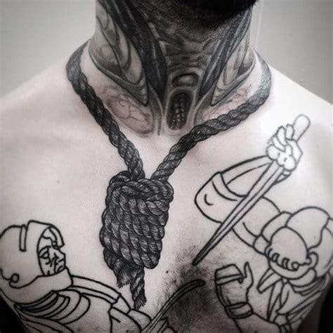 tattoo around neck 20 foreboding noose tattoos tattoodo