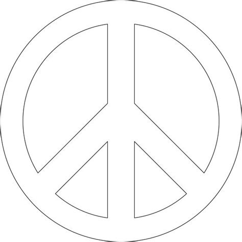 Free Peace Sign Stencil You Can Print Start Artwork Peace Sign Template
