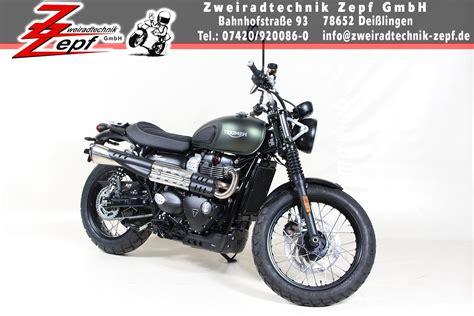 Triumph Motorrad Umbau by Umgebautes Motorrad Triumph Scrambler Von Zweiradtechnik