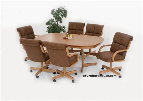 Chairs On Casters For Dining Table Dining Table Dining Table And Chairs With Casters