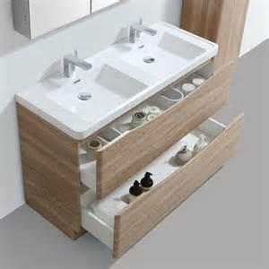 meuble salle de bain 120 cm ch 234 ne 224 poser 2 tiroirs nature
