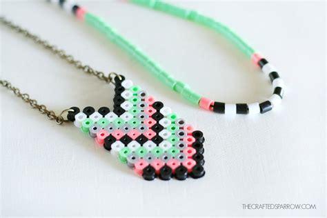 perler bead jewelry chevron perler bead necklaces