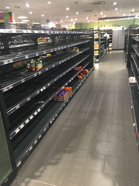 etagere edeka supermarket removes all foreign food from shelves to make