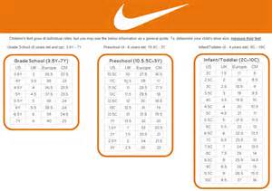 shoes size chart nike toddler shoe size chart car interior design