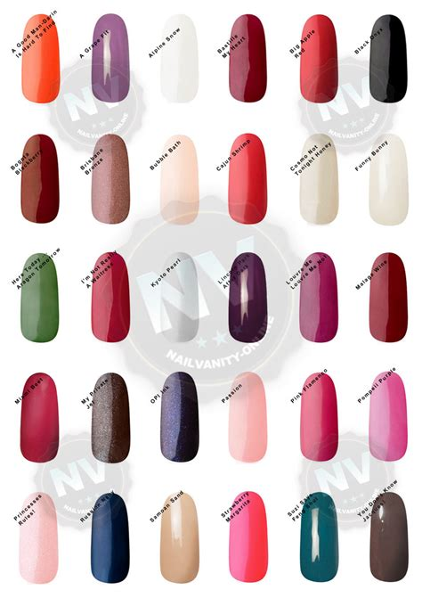 Colors swatches opi gel nail colors swatches nail arts nail art media