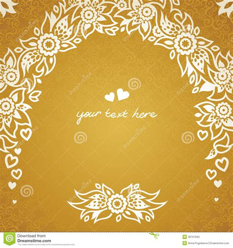 wedding invitation background designs gold vintage greeting cards with floral motifs in east style