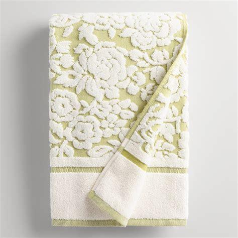 floral towels for the bathroom green adeline floral sculpted bath towel world market