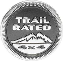 Jeep Trail Badge Replacement Mopar 174 55157318ab Quot Trail 174 4x4 Quot Badge In Gray