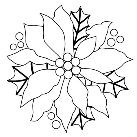 Christmas Poinsettia Pictures Page Poinsettia Coloring Page