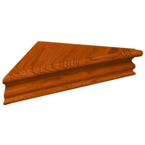 decorative crown moulding home depot knape vogt 9 in x 20 in crown molding honey corner decorative shelf kit 2110hc 14x14 the