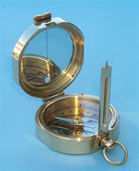 sextant compass the antique sextant stanley london 174 solid brass miner s