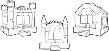 Inflatable Bounce House Clip Art Black White Sketch Coloring Page sketch template