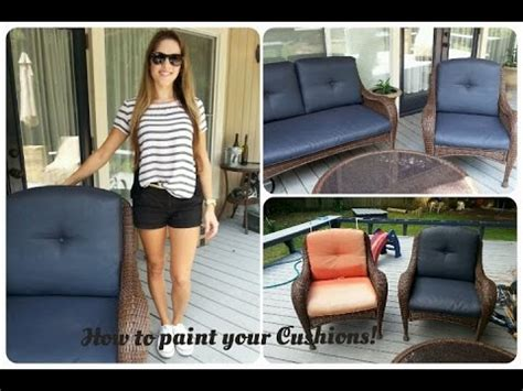 How to paint outdoor cushions!   YouTube