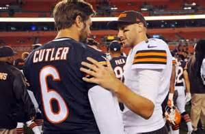 jay cutler benched benched jay cutler intrigues browns fans