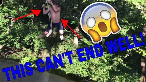 swinging gone wrong insane rope swinging gone wrong youtube