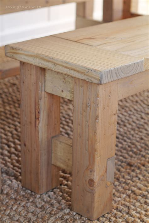 how to make a small wooden bench diy farmhouse bench love grows wild