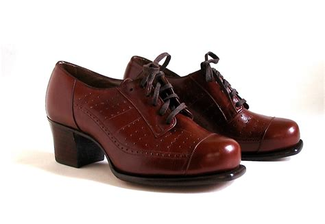 oxford shoes womens vintage shoes oxford lace up s unworn 1940 s