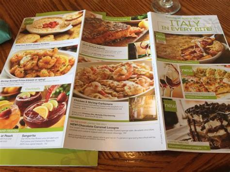 menu picture of olive garden amherst tripadvisor