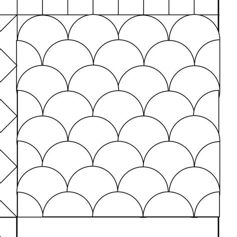 template for quilting clamshell quilting pattern mystery bay quilt design