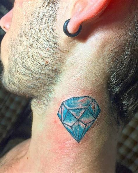 tattoo diamond on neck 19 diamond tattoo designs ideas design trends