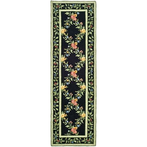 2 x 10 rug runners safavieh chelsea black 2 ft 6 in x 10 ft rug runner hk60b 210 the home depot