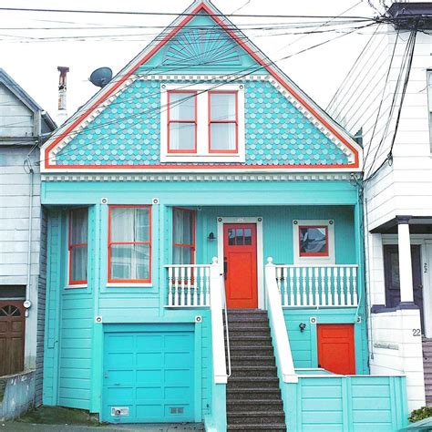 colorful homes poetic pictures of san francisco colorful houses fubiz media