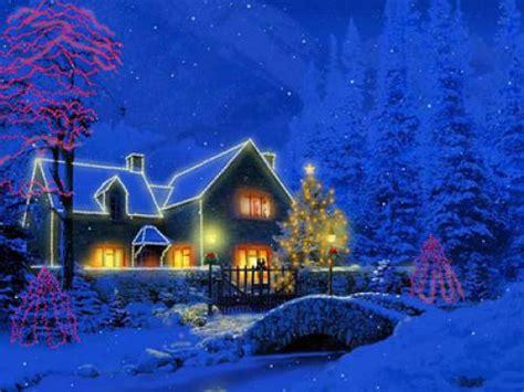 desktop wallpaper xmas scenes download christmas scene wallpaper and backgrounds