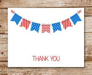 set of 8 patriotic thank you cards personalized note cards notecar