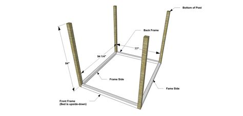 how to build a canopy bed free diy furniture plans how to build a king sized