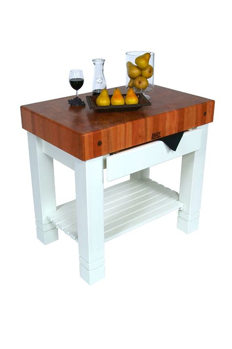 White Kitchen Island With Butcher Block Top by John Boos Homestead Butcher Block Kitchen Island Cherry