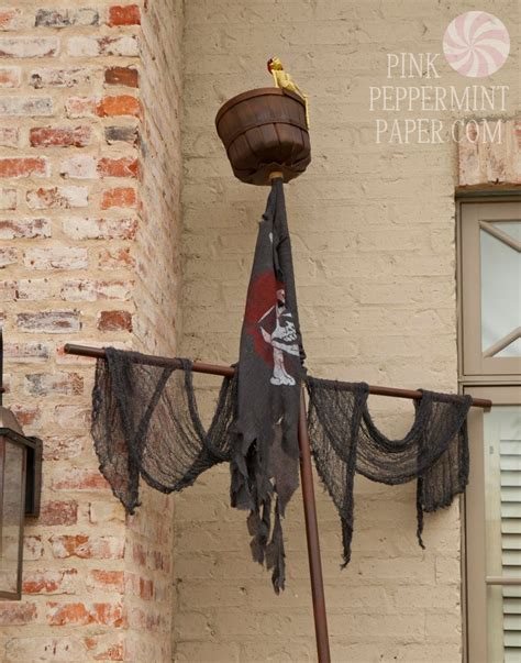 pvc pirate ship mast from pink peppermint the pirate mermaid pirate