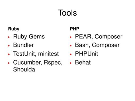 yii phpunit tutorial ruby for php developers
