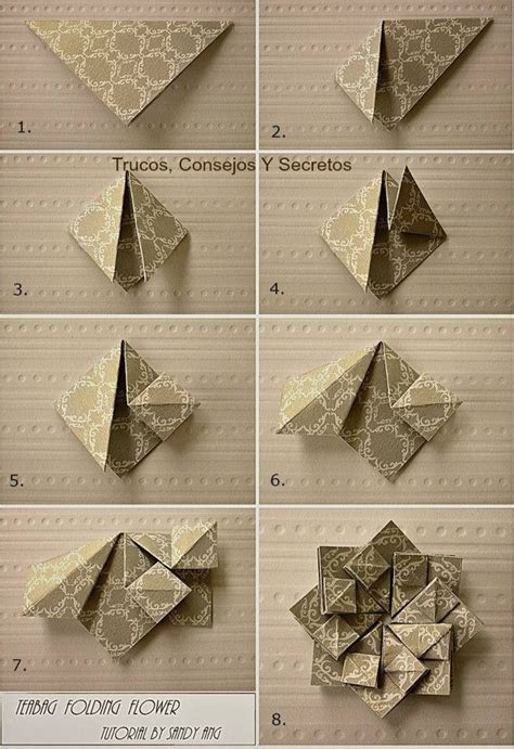 tutorial origami card 80 best teabag folding images on pinterest origami