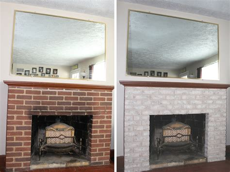 Before And After Fireplaces by Fireplace Makeover Painting The Firebox And Mantel