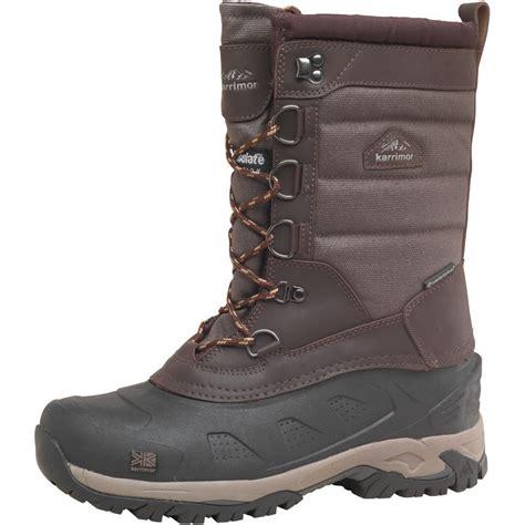 buy karrimor mens bering weathertite snow boots brown at