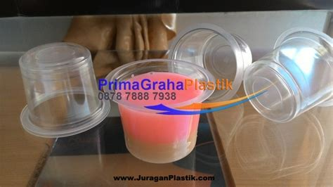 Gelas Cup Tempat Aqua Gelas 12 Cup Hias Manik 1 gelas plastik 90 ml utk puding agar agar tester home