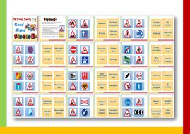 printable road sign flash cards uk flashcards series driving theory road signs by grainge