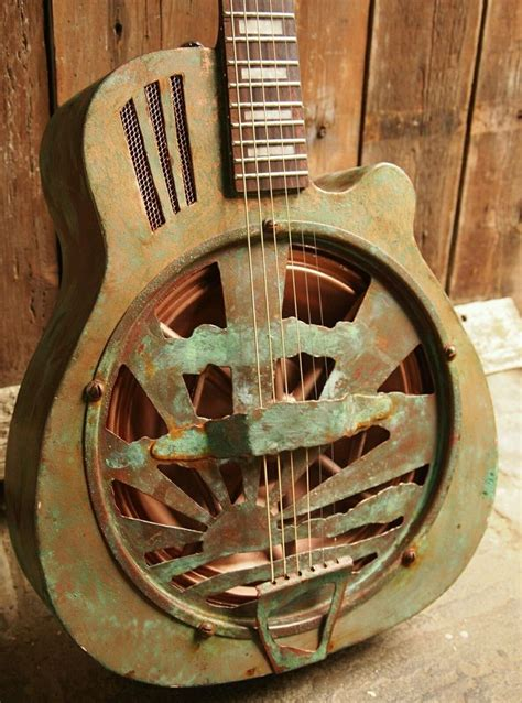 Handmade Resonator Guitars - resonator guitar verdigris custom built acoustic