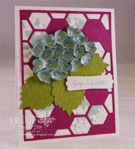 Paper Punches For Card - pretty paper punch hydrangea card allfreepapercrafts