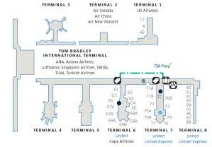 Los angeles international lax airport map