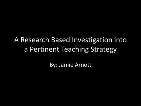 Research Based Letter Identification Strategies ppt a research based investigation into a pertinent