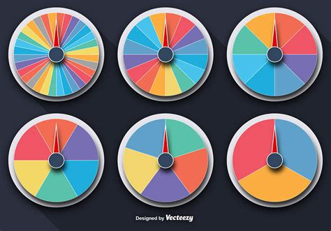 Fortune Set vector colorful wheels of fortune set free