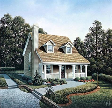 Cape Cod Cottage House Plans | cabin cape cod cottage country house plan 86973