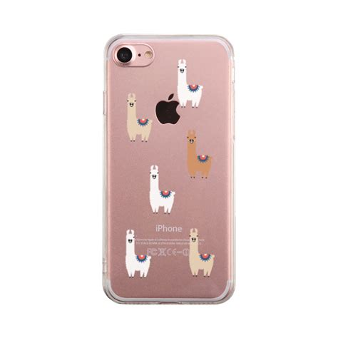 kawaii themes for iphone 6 plus llamas with sunglasses clear phone case